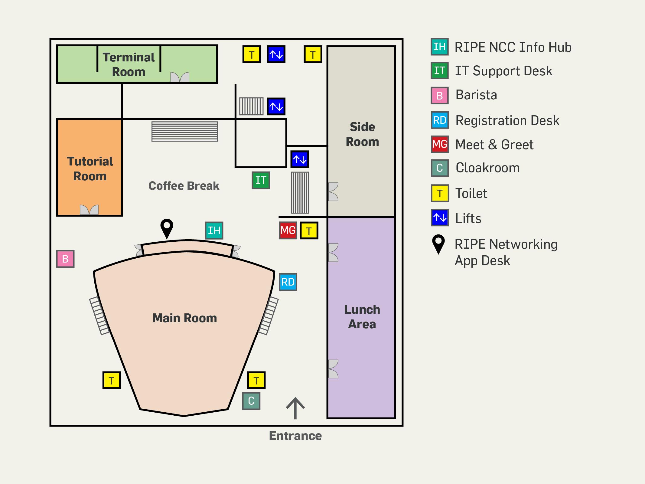 RIPE 76 Meeting Floor Plan
